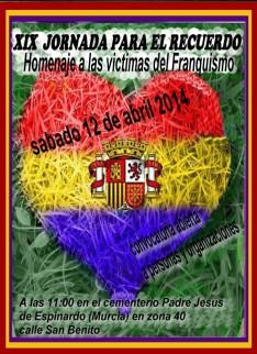 CARTEL XIX JORNADA PARA EL RECUERDO 12-04-14