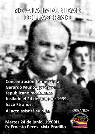 cartel homenaje Gerardo Muñoz