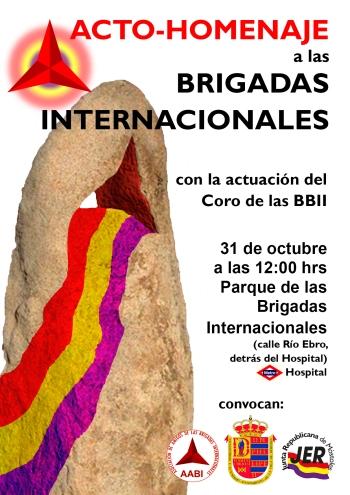 Acto Homenaje a las Brigadas Internacionales en Móstoles