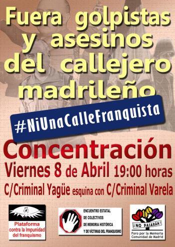 Concentración para pedir la retirada de calles franquistas [fotos]