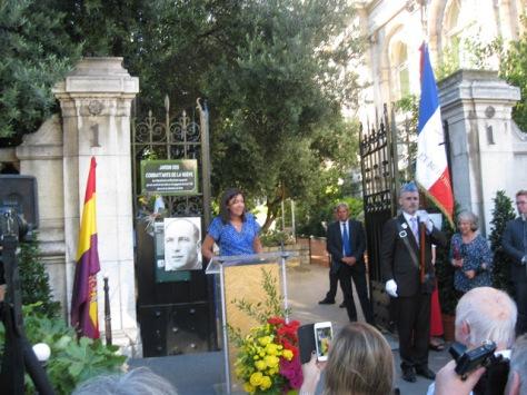 Intervención de la Alcaldesa de París enlos actos de homenaje a La Nueve