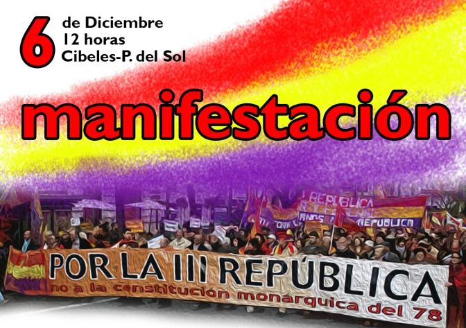Ocho puntos para avanzar hacia la III República: Manifiesto del 6 de diciembre
