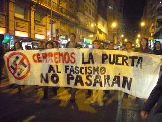 Manifestación de antifascistas del 2007 en la que participaron varios centenares