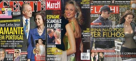 Portadas internacionales de los escándalos del Borbón emérito