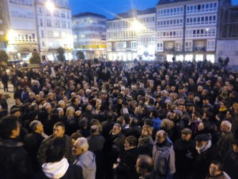 Ferrol, mobilización contra a Taxa, en febreiro de 2015