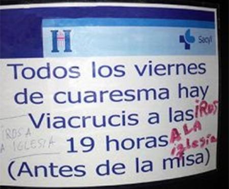 Sobre la celebración de viacrucis en el hospital general de Segovia