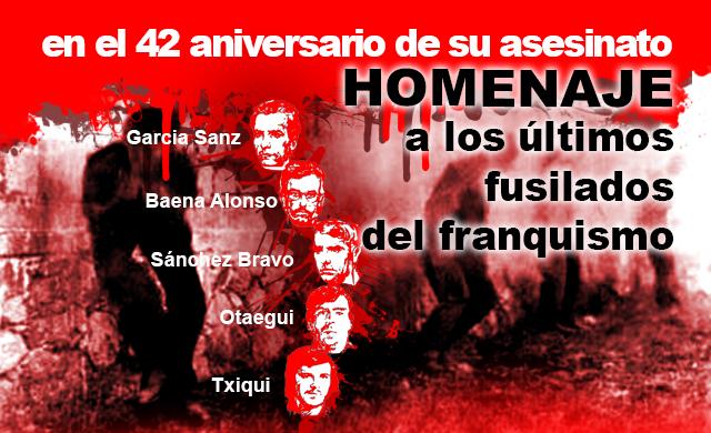 Intervención de RPS en el homenaje a los últimos fusilados del franquismo