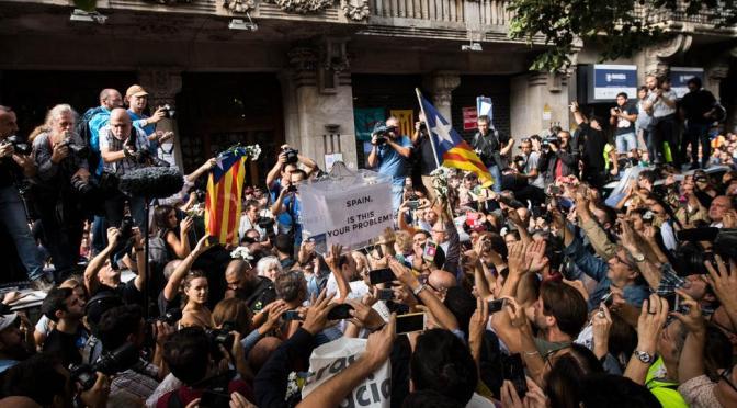 El pueblo catalán habla, el Estado monárquico agrede, comunicado del PCE(m-l)