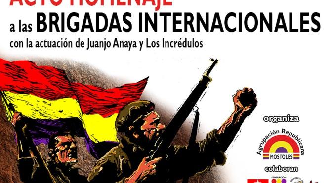 Los republicanos móstoleños homenajean un año más a las Brigadas Internacionales