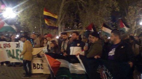 Concentración en el Arenal de Bilbao en solidaridad con el pueblo Palestino y contra el estado sionista de Israel