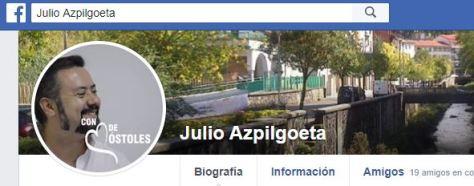 Perfil en Facebook de Julio Alfonso, bajo el pseudónimo de Julio Azpilgoeta, que ha sido bloqueado