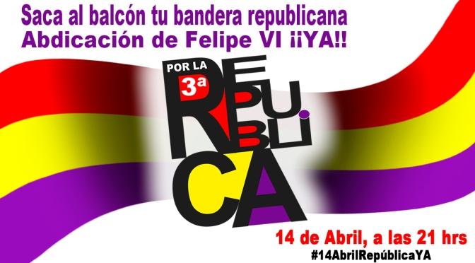 Comunicado del ERM: 14 de Abril: ni Corona, ni Virus. III República ¡¡YA!!
