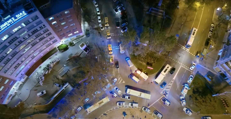 Madrid desde un dron de la policía municipal