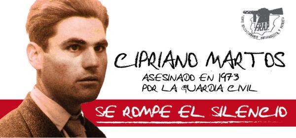¡Queremos la exhumación del luchador antifranquista Cipriano Martos Jiménez!